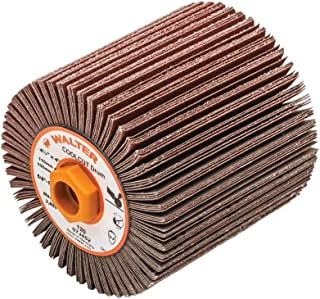 Walter 07J452 COOLCUT Linear Finishing Flap Abrasive Drum - 120 Grit, 4-1/4 in. Surface Finishing Drum. Finishing Products and Accessories