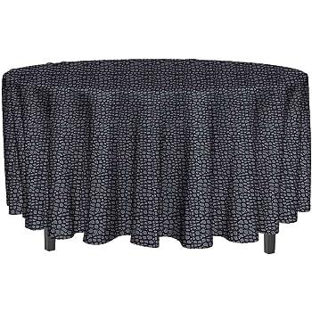 Ronde diam/ètre 160 cm Le linge de Jules Nappe Anti-Taches Tomette Bleu Taille