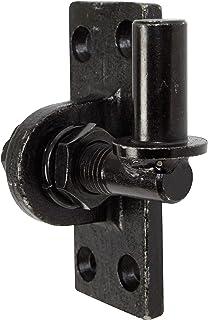 GAH-Alberts 340766 plaatduim om vast te schroeven | verstelbaar met 20 mm | elektrolytisch zwart verzinkt | doornmaat ⌀16 ...