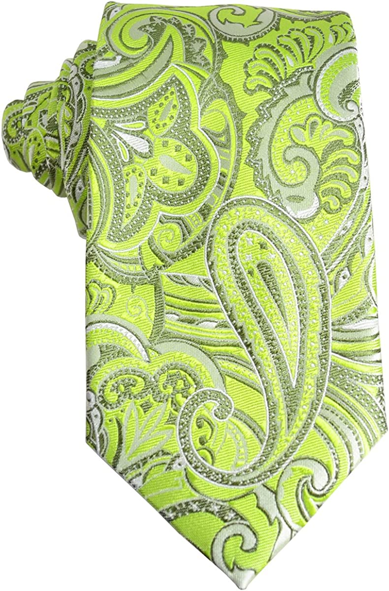 Paisley Silk Men's Tie and Pocket Square by Paul Malone
