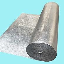 Stasy Doble Burbuja Lámina Aislamiento Papel De Aluminio,Envoltura De Escudo Reflectante para Paredes Áticos Conductos De Aire Ventanas Radiadores Garajes Barreras Térmicas(Size:1x9m (39 in X 30 Ft))