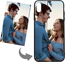 Customize Your Own Phone Case - Personalized Photo Text Logo Back Cover Case for iPhone,Birthday Xmas Valentines Gift for Her and Him (iPhone Xs mas,Black)