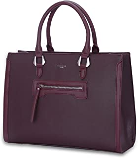 7c6187bf94 David Jones - Grand Sac à Main Femme - Cabas Fourre-Tout Cuir PU Rigide