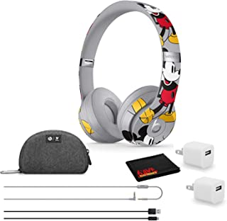 Beats by Dr. Dre Solo3 Wireless Bluetooth Headphones - Mickey's 90th Anniversary Edition - Kit with USB Adapter Cube