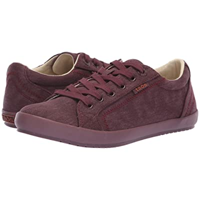 Taos Footwear Star (Bordeaux/Bordeaux Tone on Tone Solid Canvas) Women