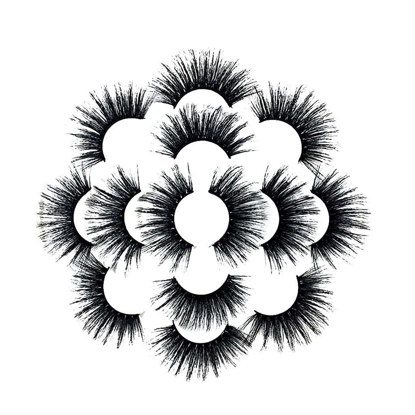 はず特権アーティスト7ペアラグジュアリー8D Falseまつげふわふわストリップまつげロングナチュラルパーティー