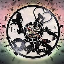 J'aime Les Chat - Reloj de pared con diseño de gato divertido disco de vinilo, reloj de pared, decoración de pared, arte de gato enamorado, regalo de 12 pulgadas