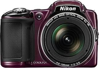 Nikon Coolpix L830 Digital Camera (Plum) (Renewed)