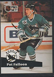 1991 Pro Set Pat Falloon Sharks Rookie Hockey Card #558