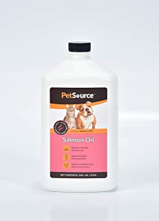 Salmon Oil for Dogs & Cats - Supports Joint Function, Immune & Heart Health - Omega 3 Liquid Supplement for Pets - All Natural EPA & DHA Fatty Acids for Healthy Skin & Coat