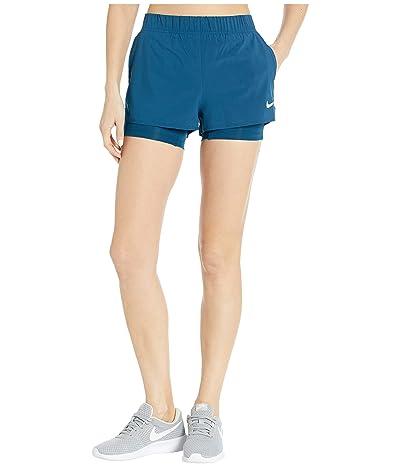 Nike Flex Shorts (Valerian Blue/White) Women