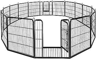 BestPet Dog Pen Extra Large Indoor Outdoor Dog Fence Playpen Heavy Duty 16/8 Panels 24 32..
