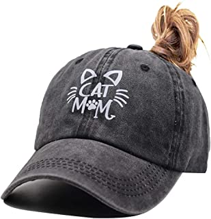 OASCUVER Hats Dog Mom & Dad Cat Mom Cat Dad Mama Bear Papa Bear Baseball Cap Cotton Adjustable Unisex Dad Hat Gift