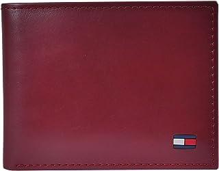 Tommy Hilfiger 31TL22X046-600 Dore Bi-fold Leather Wallet for Men, Red