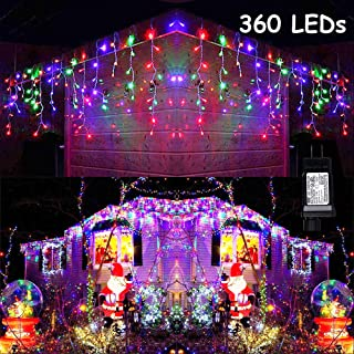 Best multi color led icicle christmas lights Reviews