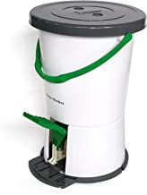 Clothes Washer Bucket - Portable Foot Powered Washer, Non-Electric Clothes Washing Machine, for Camping, Dorms, RV's & Delicate's - White