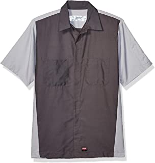 Red Kap Men`s Rip-stop Short-sleeve Crew Shirt