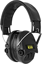 Sordin Supreme PRO X - Active Hearing Protection Noise Reduction Safety Ear Muffs with Gel Seals - Black Leather Headband and Cups