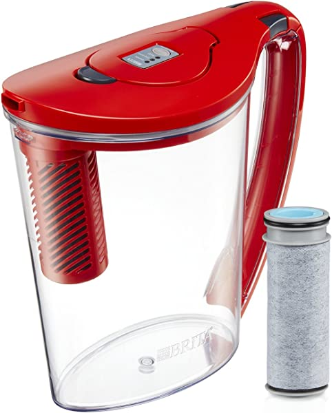 Brita 大 10 杯流过滤器,当你倒水罐 1 过滤器急流 BPA 免费提供多种颜色