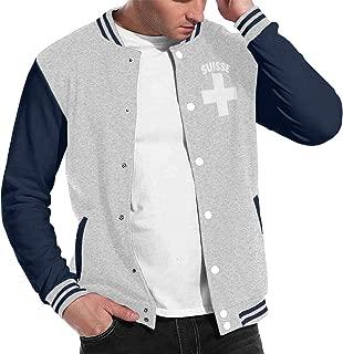 Stylish Unisex Baseball Uniform Jacket Sport Coat Swiss Pride Men's Women's Adult Sweatshirt Outwear