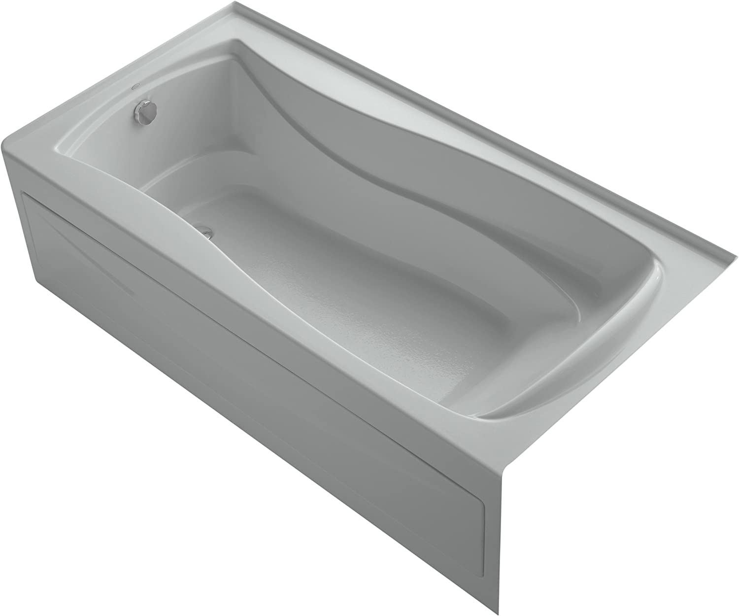 Kohler K 1259 Law 95 Mariposa 72 Inch X 36 Inch Alcove Bath With Bask Heated Surface Integral Apron Tile Flange And Left Hand Drain Ice Grey Home Improvement