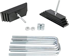 RockTrix Front Leveling Kit - 2.8 inch Lift - Carbon Steel Leaf Spring Mini Plates Blocks and U Bolts - for 1999-2004 Ford F250 F350 Super Duty Excursion 4x4 (March 1999+ Production)