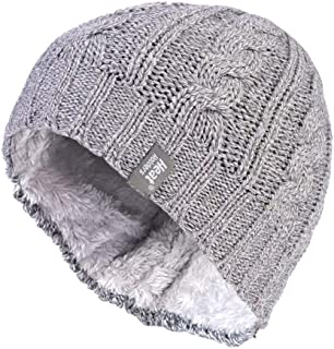 Heat Holders Women's Warm Winter Thermal Cable Knit Beanie Hat