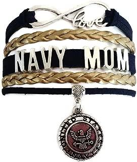 Kit's Kiss Navy Bracelet, US Navy Bracelet, Sailor Bracelet, Love Infinity Bracelet, Leather Bracelet
