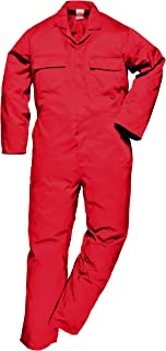 Portwest S999RERL Euro Work Boilersuit, Fabric, Large, Red