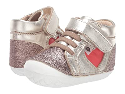 Old Soles My-Heart Pave (Infant/Toddler) (Glam Chocolate/Bright Red) Girl