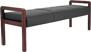 Alera ALERL2419M Reception Lounge WL Series Bench, 65 3/4 x 22 1/4 x 22 7/8, Black/Mahogany