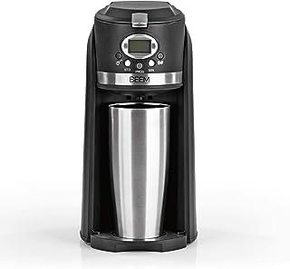 BEEM GRIND & BREW 2 GO - Cafetera de filtro con mecanismo de molienda, taza térmica de 0,4 l, temporizador de 24 h, 800 W,...