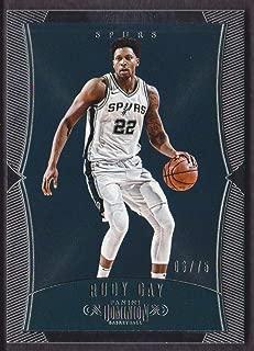 2017-18 Panini Dominion Basketball #91 Rudy Gay 06/75 San Antonio Spurs