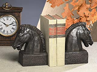 KensingtonRow Home Collection Bookends - Equestrian Bookends - Horse Head Bookends - Horse Book Ends