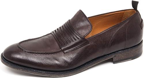 E8918 Mocassino hombres Dark marrón BARRACUDA zapatos Vintage Effect Loafer zapatos Man
