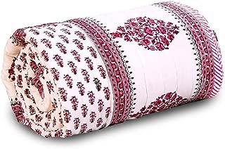 Little India Pure Cotton Jaipuri Handblock Double Bed Comforter 601