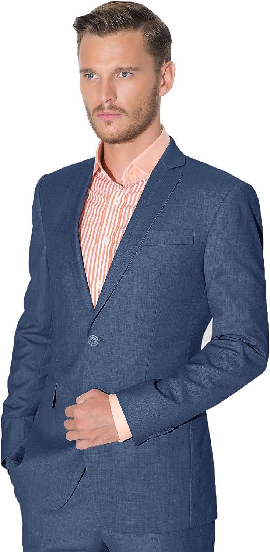 iTailor Men's 2 Button Notch Lapel Suit Dull Pink 52 Short