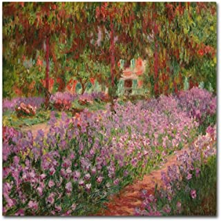 The Garden at Giverny by Claude Monet, 35x35-Inch Canvas Wall Art