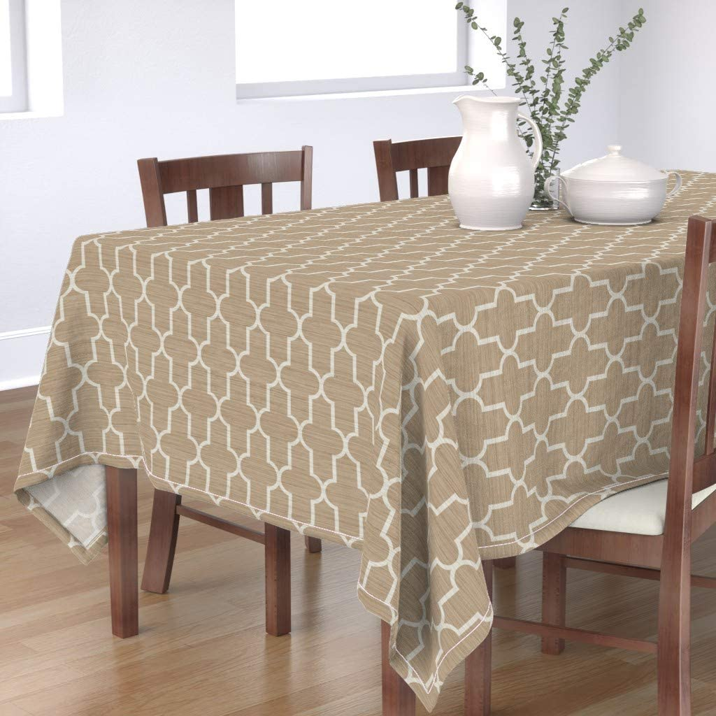 Award Roostery Tablecloth Grasscloth Og Dedication Quatrefoil Neutral