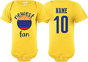 nobrand Colombia Bodysuit Newest Fan National Team Soccer Baby Girls Boys Customized