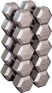 Body-Solid Grey Hex Dumbbell Set, (55-75 LB) (SDS650)