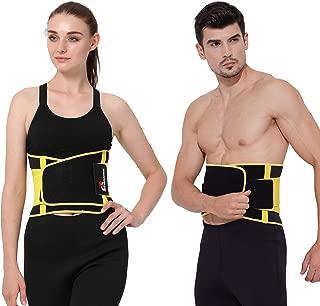Gowhods Sport Lower Lumbar Support/Back Brace Belt - Adjustable Waist Trainer Belt Weight Loss Sweating Enhancer for Men & Women