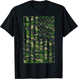 USA Camouflage Flag Shirt | Classic Army Print T-shirt Gift