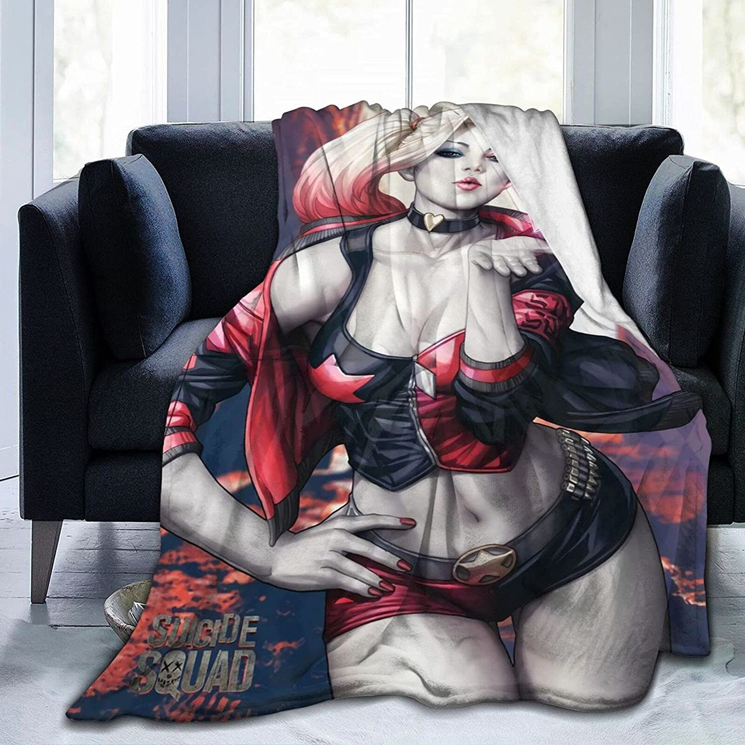 Limited price Crazy Harley-Quinn Blankets Ultra-Soft Blanket Topics on TV Dura Micro Fleece