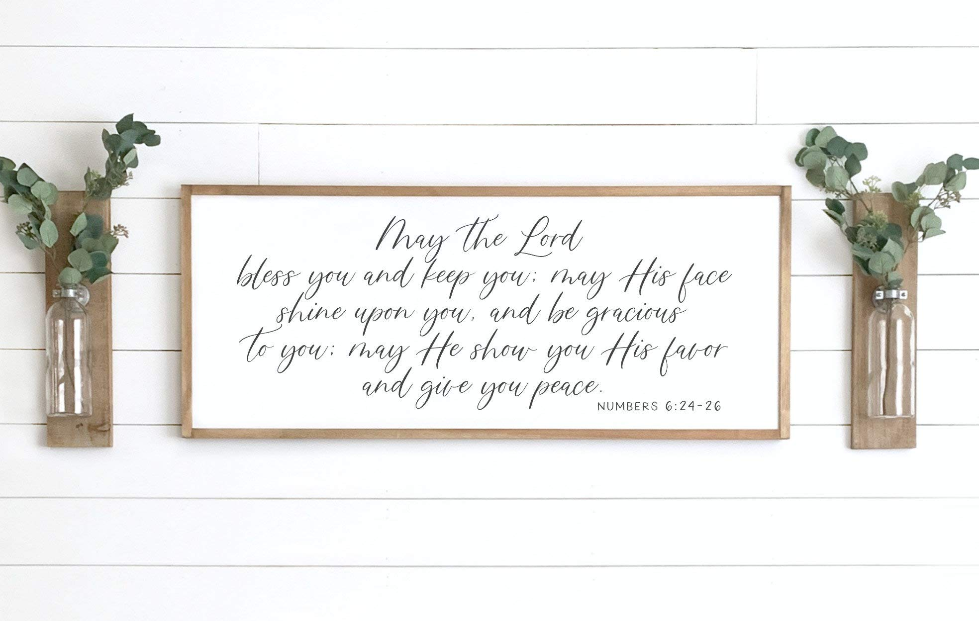 29x29 FREE SHIPPING Scripture 23x23 Farmhouse Wood Sign 35x35 May the Lord bless you and keep you 12x12