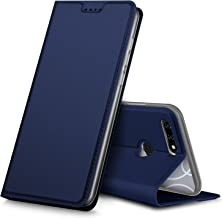 Blu Vivo X Case,Tisuns PU Leather & TPU Case Card Slot Ultra Slim Flip Cover Case Protective Sleeves with Stand Holder for Blu Vivo X Blue