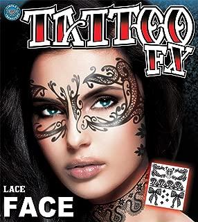 Lace Face タトゥーシール フェイスシール メイク コスプレ ハロウィン