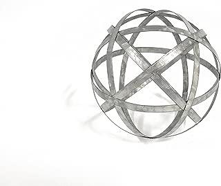 Large Galvanized Metal Band Decorative Sphere (Standard Version)
