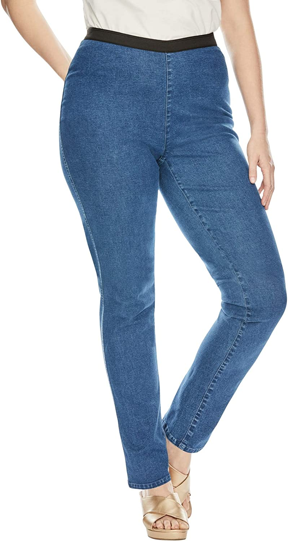 Jessica London Women's Plus Size Straight Leg Stretch Denim Jeggings Jeans Legging
