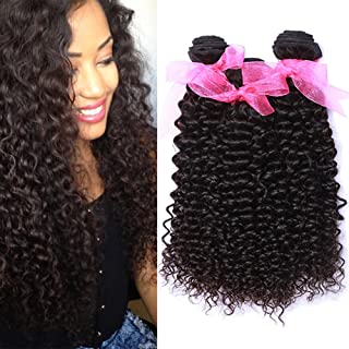 10A Malaysian Kinky Curly Human Hair 3 Bundles 10 12 14inch 100% Unprocessed Virgin Malaysian Curly Weave Hair Human Bundles Wet and Wavy Curly Human Hair Extensions